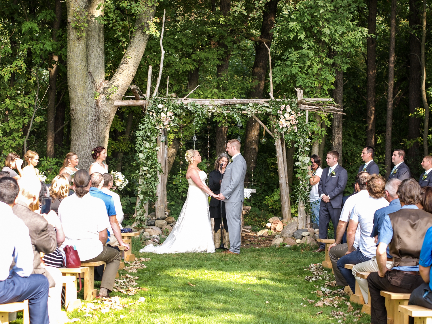 Wedding in the Woods at The Gardens