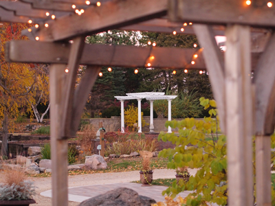 White Pergola in the Fall