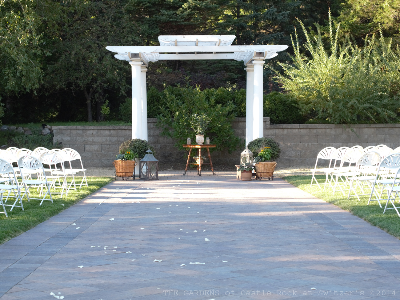 Emily & Ben at The Gardens - The Paver Walk of the Grand Promenade