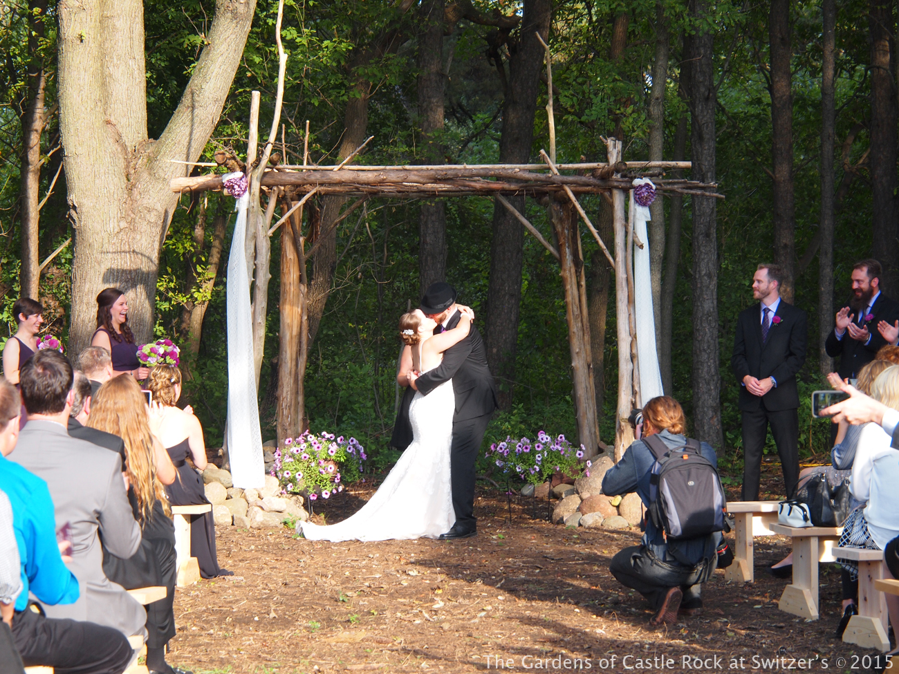 Beautiful Fall Wedding In The Woods At Gardens