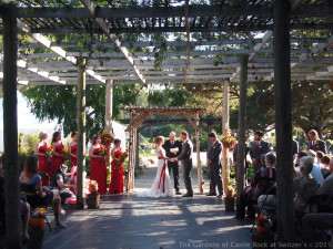 Carissa & Randy at The Gardens of Castle Rock ~ Weddings & Events ~ Fall Lath House Wedding