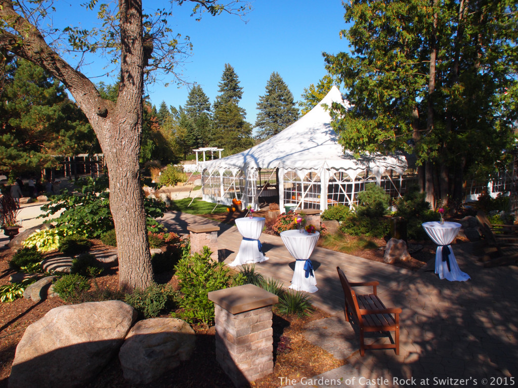 All set up and ready to go for the reception.... Sunny & Brian at The Gardens of Castle Rock ~ Weddings & Events - Beautiful Outside Fall Wedding