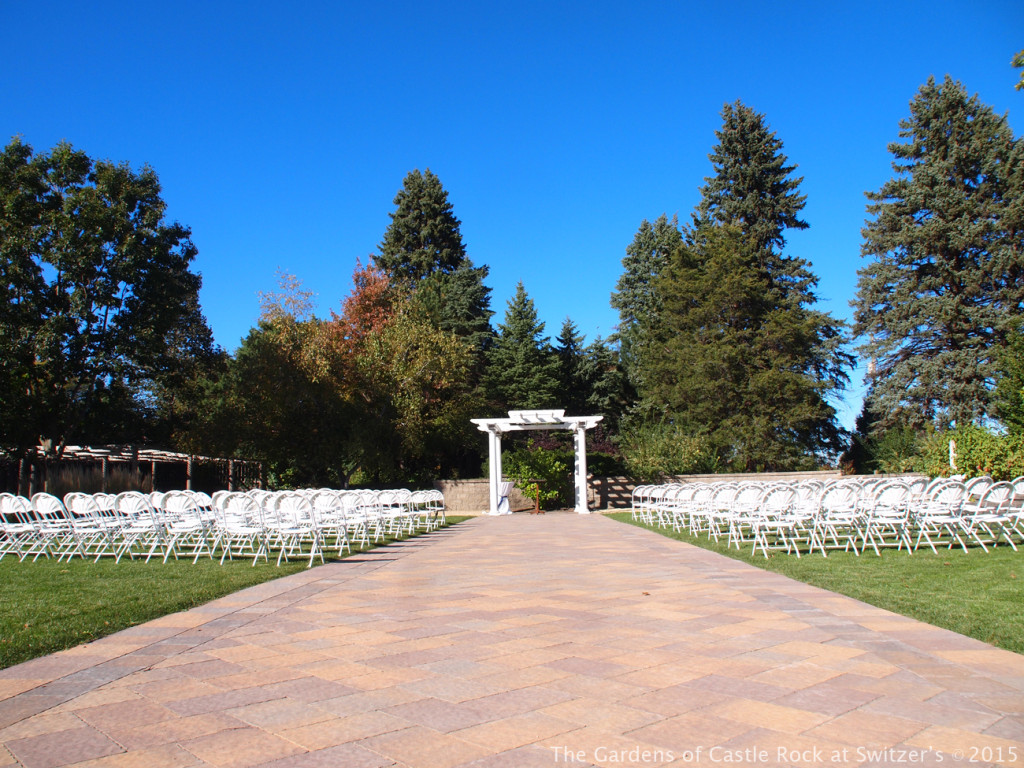 The Grand Promenade.... Sunny & Brian at The Gardens of Castle Rock ~ Weddings & Events - Beautiful Outside Fall Wedding