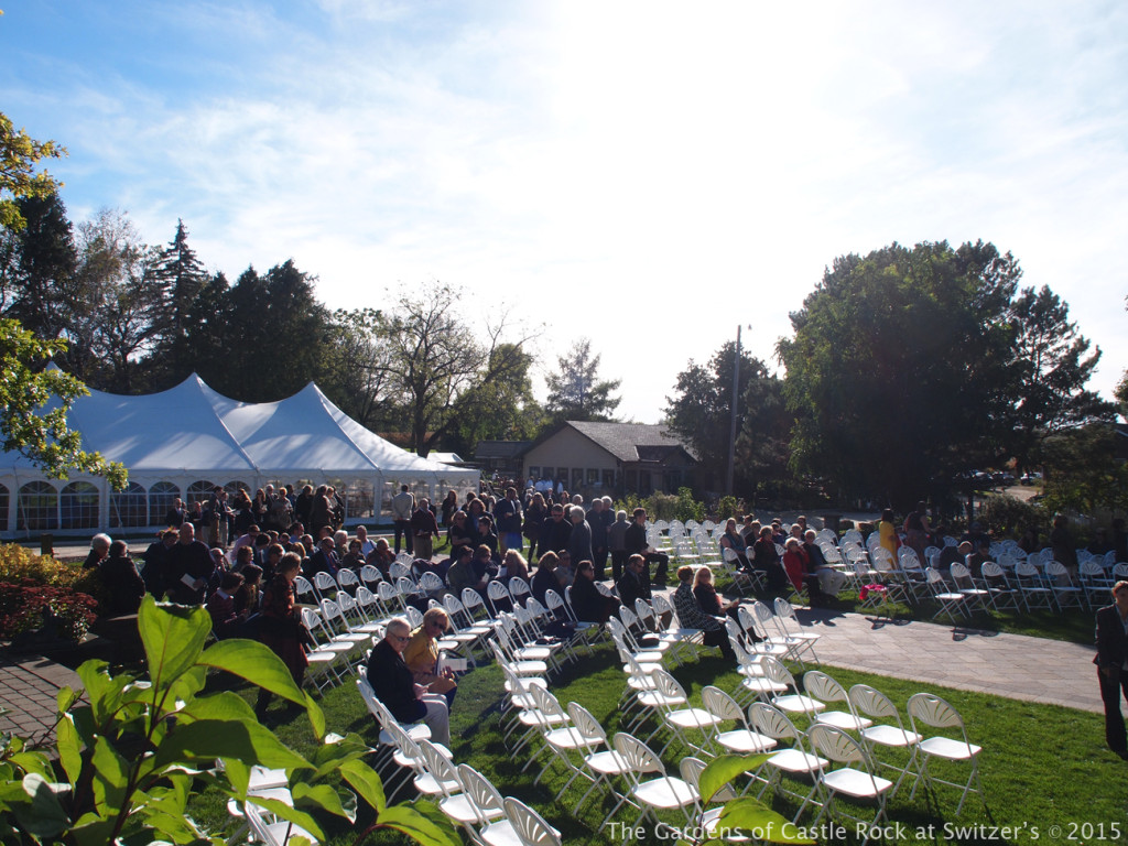 Anticipation building... Sunny & Brian at The Gardens of Castle Rock ~ Weddings & Events - Beautiful Outside Fall Wedding