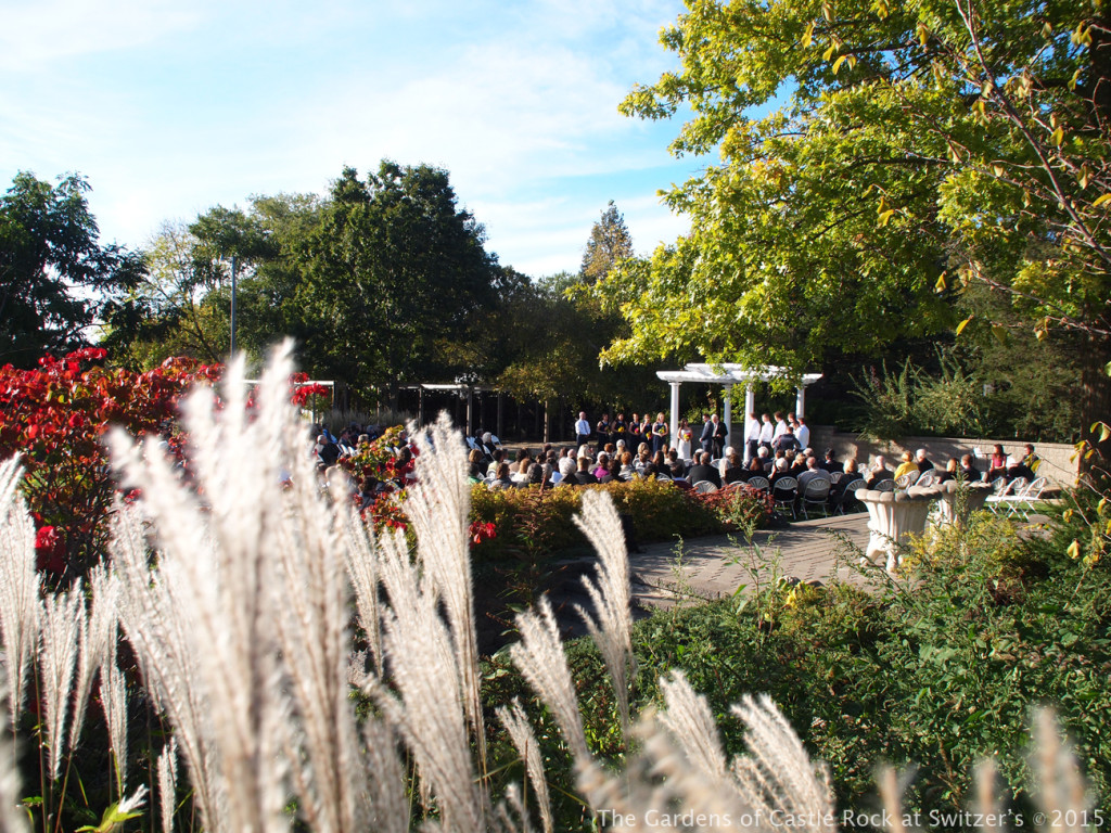 Surrounded by beauty.... Sunny & Brian at The Gardens of Castle Rock ~ Weddings & Events - Beautiful Outside Fall Wedding