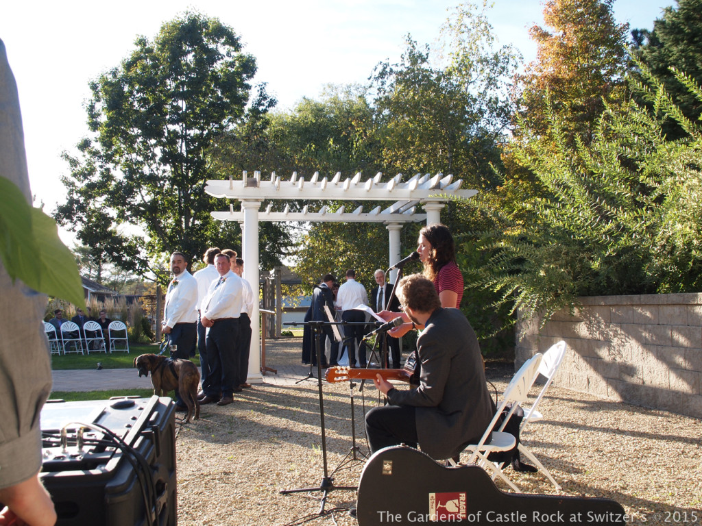Beautiful music... Sunny & Brian at The Gardens of Castle Rock ~ Weddings & Events - Beautiful Outside Fall Wedding