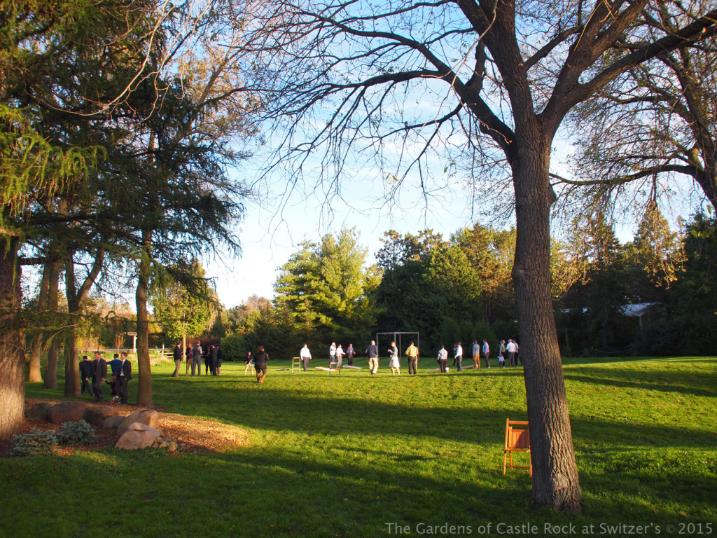 Time for some fun... Lawn Games! Sunny & Brian at The Gardens of Castle Rock ~ Weddings & Events - Beautiful Outside Fall Wedding