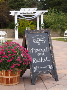 Wedding Signage #WeddingSignage #TheGardensofCR #MNWedding ~ Rachel & Maxwell at The Gardens of Castle Rock ~ Minnesota Fall Wedding