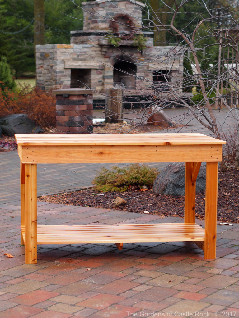 "The Gardens of Castle Rock - 63"" wide Mid Height Garden Tables - Western Red Cedar"