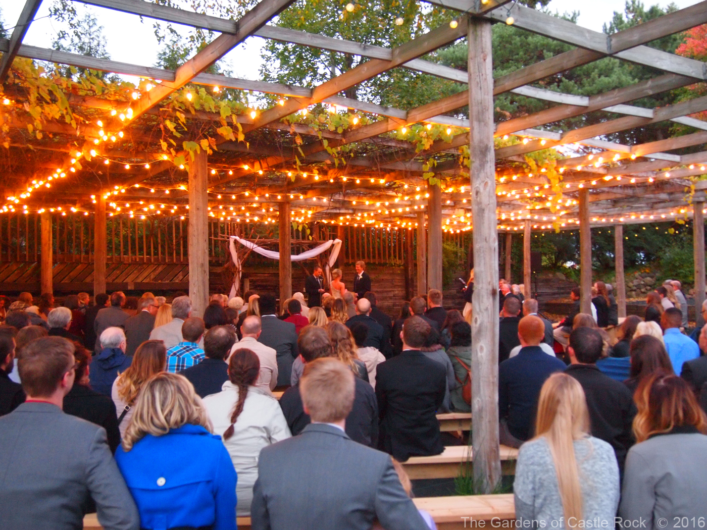 Friday Night Wedding Ceremony ~ Britta & Ryan at The Gardens of Castle Rock ~ Minnesota Outdoor Wedding Venue