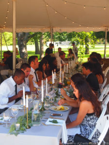 Sunday afternoon wedding reception ~ Brittany & Caleb at The Gardens of Castle Rock ~ Minnesota Summer Garden Wedding