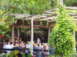 Mallery & Andy at The Gardens of Castle Rock in the Lath House - MN Outdoor Wedding