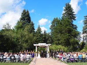 Michelle & Brian at The Gardens of Castle Rock ~ Minnesota Garden Wedding Party