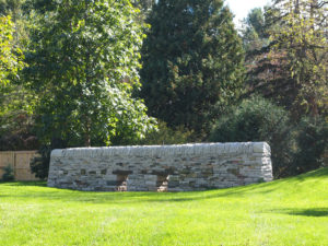 Mimi & Dominic at The Gardens of Castle Rock ~ Festive Fall Minnesota Wedding - Drystone Wall on The Lawn