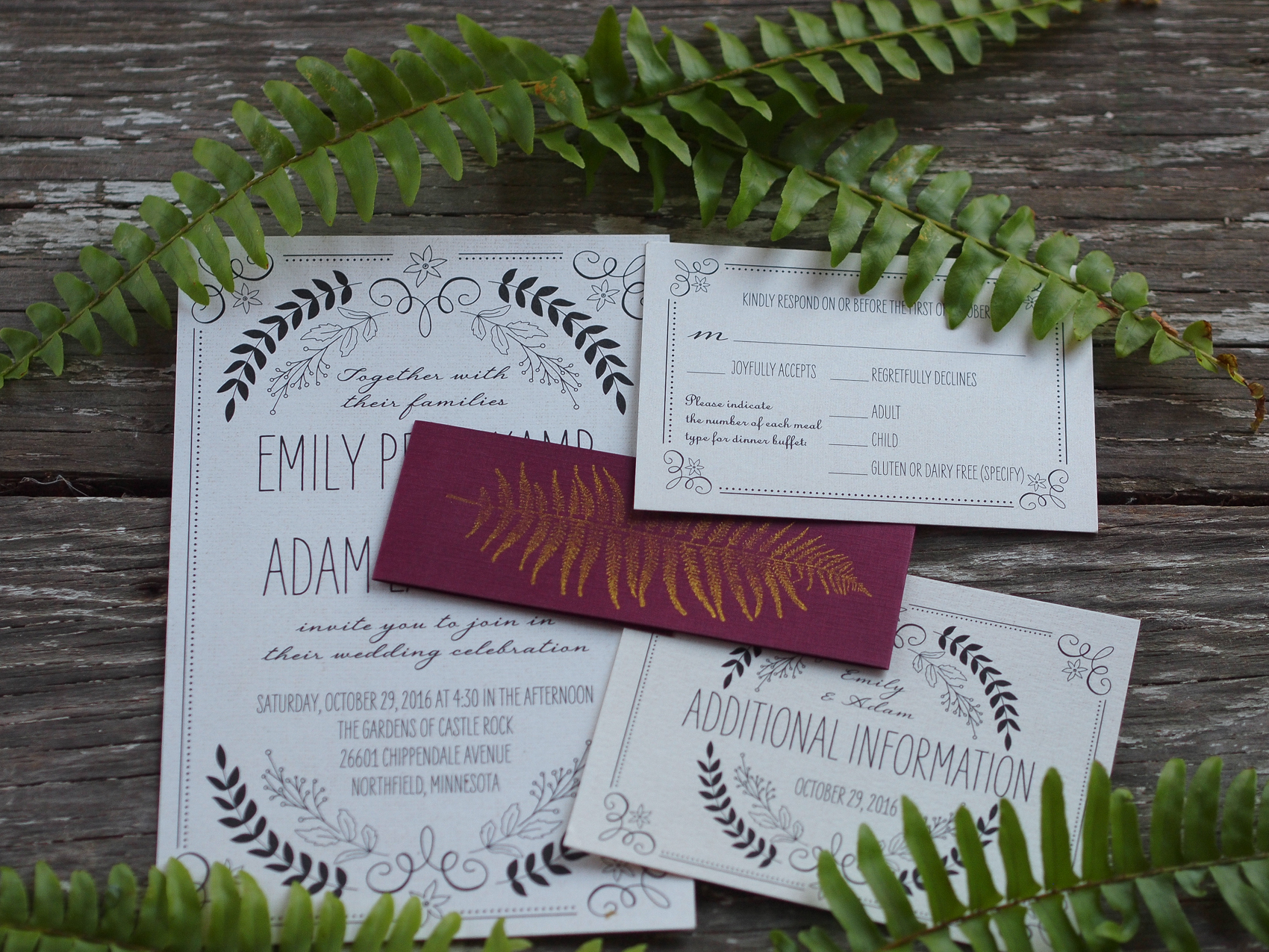 Wedding Invitation Edicate: The Gardens Of Castle Rock